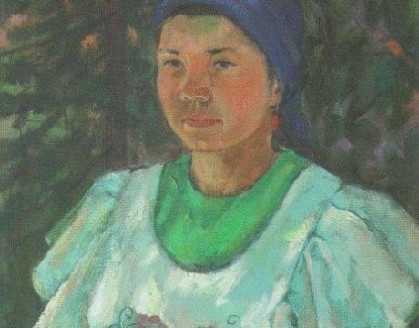 Факиль Гайфутдинов. Портрет девушки в татарском национальном костюме