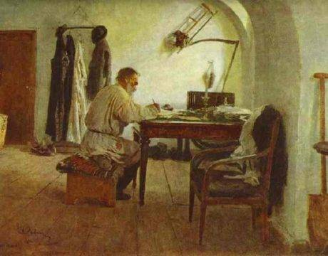 Портрет л. Н. Толстого в своем кабинете, Москва, Государственный литературный музей