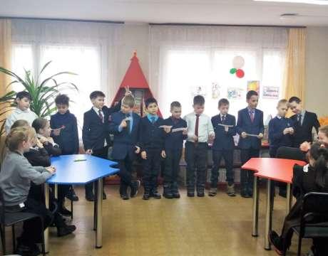 10ф. Поздравление от мальчиков